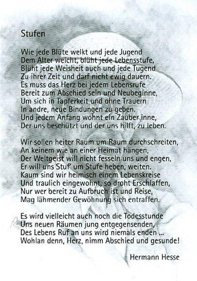 Gedicht von hermann hesse stufen